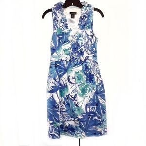 Spense Floral Ruffled Collar Dress Sz 4